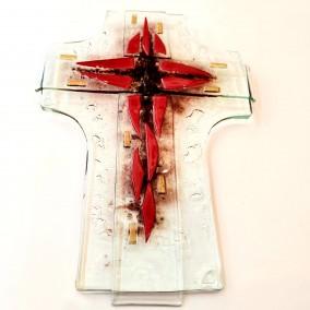 Križ crveni stakleni