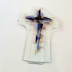 Križ plavi stakleni